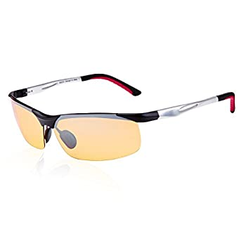 5cd73cb92d5 Duco Night-vision Glasses Anti-glare Driving Eyewear Polarized 2181  (Silver Yellow)
