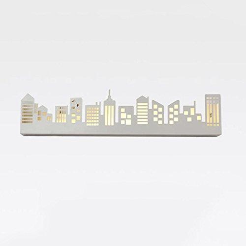 DELICATO W Ferro Piccola Casa figura LED 62 centimetri * 13cm nero Illustrazione decorativa bagagli Hook Ristorante Studio Camera da letto moderna Comodino Corridoio della luce di notte parete della navata laterale 12W Wall Light