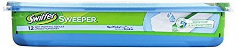 Swiffer Wet Disposable Cloth Refills, 12 ct (Packaging may vary) by Swiffer (12 Ct Wet Swiffer Refill)