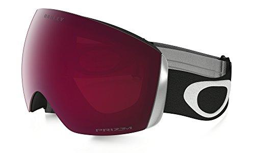 Oakley Erwachsene Snowboardbrille Flight Deck PRIZM Sportbrille, Schwarz Matte Blk/Prizmrose), L