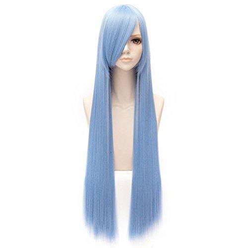 Perruques-Postiches-95cm-Coiffure-Extensions-de-Cheveux