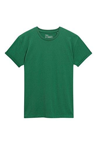 next Herren T-Shirt mit gerollten Aermeln Regular Leuchtend Gruen