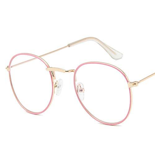 ROirEMJ Mode Sonnenbrille Frauen Vintage Persönlichkeit Stil Transparenter Linse Sonnenbrille Retro Classic Design Gläser