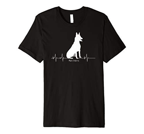 Malinois T-Shirt Heartbeat Geschenk Hund Herzschlag