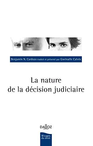 La nature de la décision judiciaire - 1ère édition