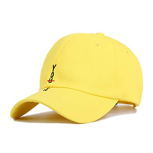 Lifet Sunscreen Hut Jugendbuchstaben Bestickte Baseballmütze Unisex-Volltonfarbe Fisher Hut - Harajuku Hip-Hop Kappe Curved Cotton Trucker Hut Herren Demen Kinders Tag Trucker Hut