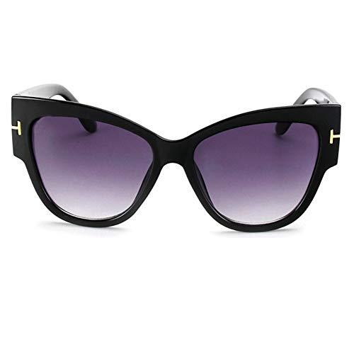 Yuanz Sonnenbrille Übergröße Acetat Cat Eye Sonnenbrille Shades