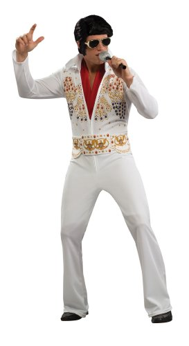 Elvis Presley White Adult Costume Halloween Size: X-Large (japan import)