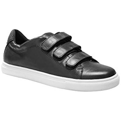next Mujer Zapatos Zapatillas De Piel Deportivas Casuales Cierre De Velcro