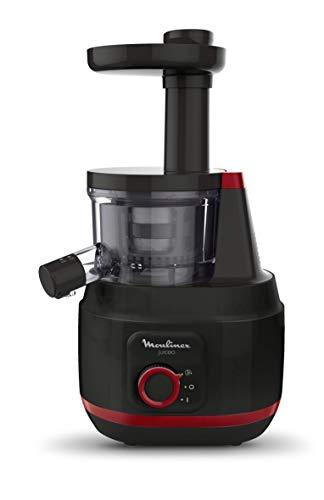 Moulinex Juiceo Entsafter, 150 W, 0,8 Liter, Kunststoff, Schwarz und Rot