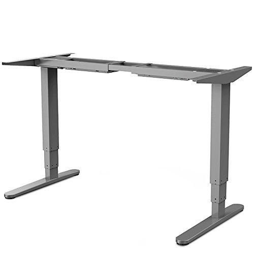 Flexispot E5S Höhenverstellbarer Schreibtisch Elektrisch höhenverstellbares Tischgestell, 3-Fach-Teleskop, passt für alle gängigen Tischplatten. Mit Memory-Steuerung und Softstart/-Stop. (Verstellbare Tisch Füße)