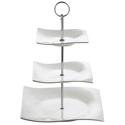 Maxwell & Williams Motion Etagere, Porzellan, Weiß, 25x25x34
