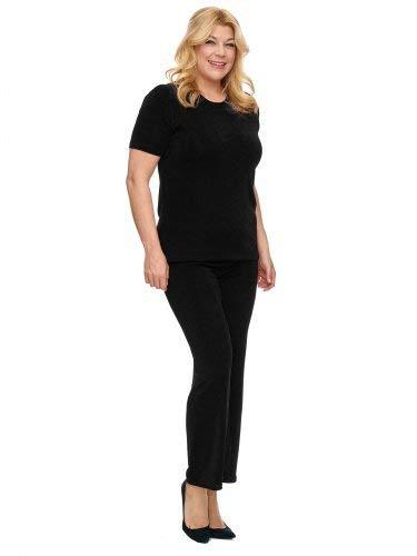 Magna - Basic Edle Damen Slinky Stretch Hose Perfekt Zum Kombinieren Farbe schwarz, Größe 56/58 - Slinky Stretch