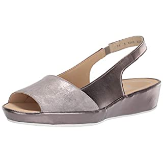 ARA Women's Clarice Slide Sandal, Sassy Glamour Kid/Titan Metallic, 6.5