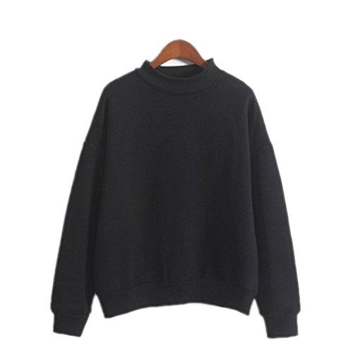 Süße Frauen Hoodies Pullover 9 Farben Herbst Mantel Winter Lose Fleece Sweatshirt weiblichen schwarzen dicken Stricken XXL (Vielseitige Stricken Leggings)