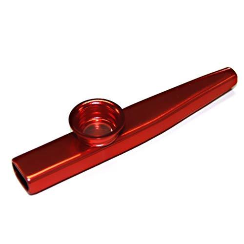 Ogquaton Kindermusikinstrument Metall Kazoo Mundharmonika Mundflöte Spielzeug Rot Premium Qualität