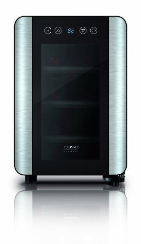 CASO-WineCase-6-Design-Weinkhlschrank-fr-bis-zu-6-Flaschen-bis-zu-310-mm-Hhe-eine-Temperaturzone-8-18C-Energieklasse-A