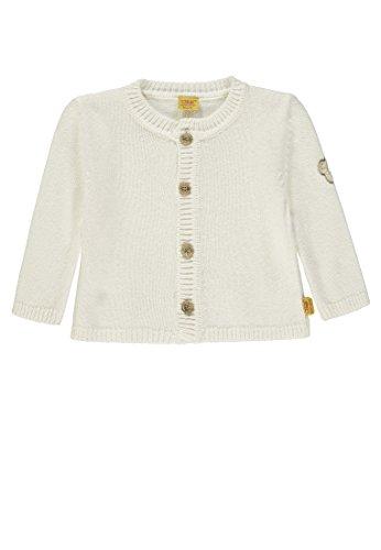 Steiff Baby-Mädchen 1/1 Arm Strickjacke, Weiß (Egret|White 1020), 80
