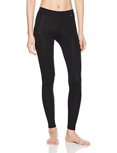Skiny Damen Sleep & Dream Leggings Lang, Schwarz (Black 7665), 36 (Baumwolle Sleep-pant Damen)