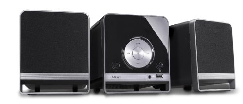 Akai AMC310 - Microcadena de 10 W CD, 10 W, FM, MP3, USB, 3.5 mm), neg