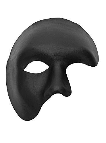 Andracor Venezianische Maske - Phantom schwarz Venezianische Ledermaske