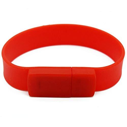AJIAO USB-Armband Buntes Silikon-Armband-Handgelenk-Band 4Gb 8Gb 16Gb 32Gb 64Gb 128Gb USB-Blitz-Antrieb-Feder-Antrieb-Stock-U-Scheibe