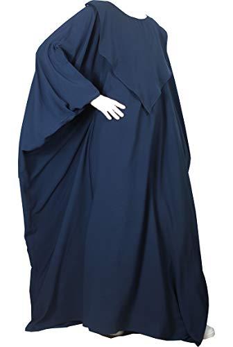 CONFECTIONSOUMK Abaya SüßigkeitenOumK Mutterschaftsschmetterling - Maxi Pflege- und Baby-Umstandskleid - Vertikale Öffnung - Große praktische Kleidung für alle Größen geeignet (1, Navy) (Maxi Kleider Bescheiden)