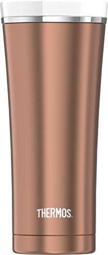 THERMOS 4004.284.047 Coffee-to-Go Thermobecher Premium, Edelstahl Rosé Gold 0,47 l, 5 Stunden heiß, 9 Stunden kalt, BPA-Free