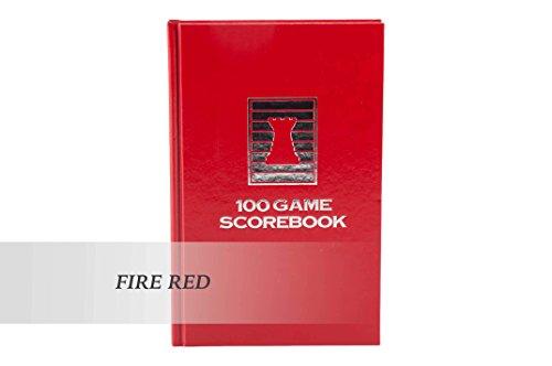 Luxury Hardcover Chess Scorebook - FIRE RED