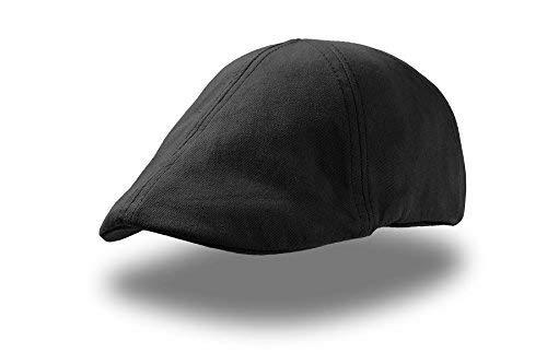 GA-STR-3 Gatsby Flatcap Schiebermü?tze Cap Schirmmütz?e Sportmütze Golfmütze für Damen und Herren geeignet schwarz