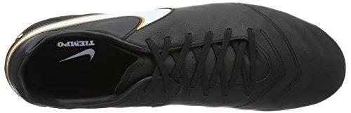 Nike Tiempo Mystic V, Chaussures de Football Homme Noir / Blanc / Or (Noir / Blanc-Metallic Gold)