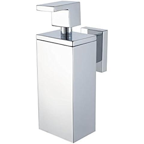 Haceka 1143814 - Dispensador de loción y de jabón, acero inoxidable y metal, 5,3 x 16,9 x 10,1 cm, color