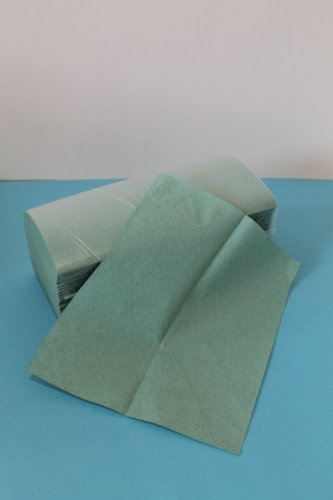 Preisvergleich Produktbild 5000 Papierhandtücher 1 lagig 25 x 23 cm grün ZZ-Falz Falthandtücher Handtuchpapier Einmalhandtücher