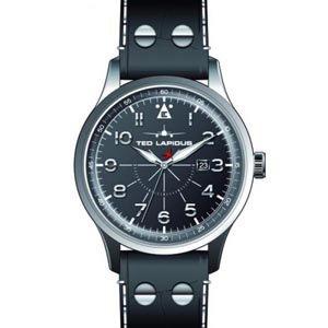 Ted Lapidus 5127901 - Reloj para hombres, correa de cuero color negro