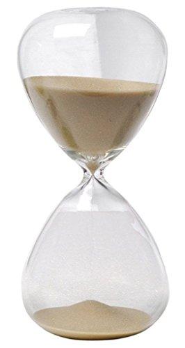 Winterworm- clessidra con sabbia di vari colori, in vetro, grande, per la decorazione della casa. 5 minutes marrone