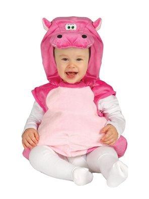 Baby Kostüm Hippo - Karneval Baby Kostüm Hippo, Flußpferd pink (68/74)