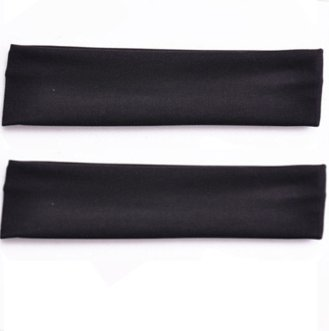Demarkt 2 Pcs Femme Bandeau Cheveux Coton Arcs Fleurs Headband Elastique Extensible Humidité Hairband Pour Soin Accessoire Maquillage Sport Jogging Yoga 20*5cm (Noir)