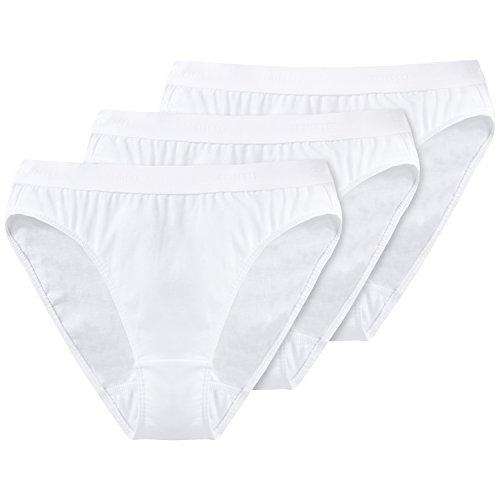 Schiesser Damen Slip 3-er Pack 205563, Gr. 16 (XL), Weiß (100-weiss)