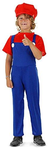 Folat 21886 – Kinderkostüm Super Klempner, blau / rot - 2