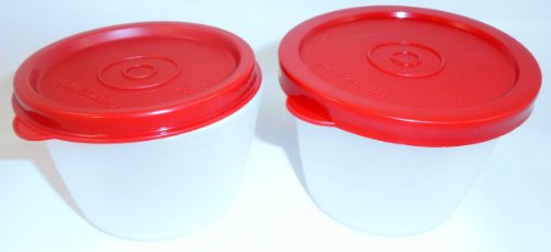 1a TUPPER Dose UNO-DUO 150+120ml --- weiss rot