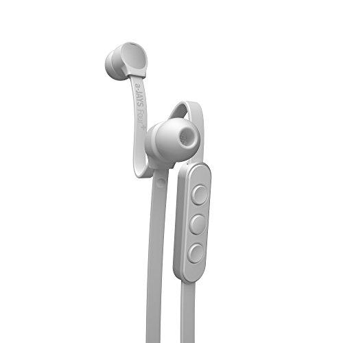a-Jays Four+ In-Ear Kopfhörer (kabelgebundene Ohrhörer mit Remote & Headset 360° Mikrofon für Android, mit Ohrstöpsel in 5 verschiedenen Größen) Weiß/Silber - Ajays Kopfhörer