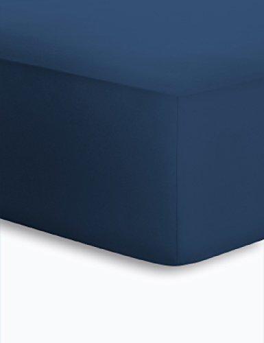 Schlafgut Boxspring Spannbetttuch für Matratzen mit oder ohne Topper, für Höhen von ca. 25 - 40 cm - Grösse 140/160 x 190/200/210/220 cm - Härtegrad 137 - Marine