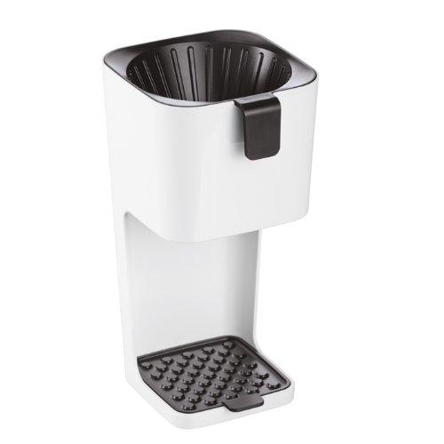 koziol Kaffeebereiter Unplugged, Kunststoff, weiß mit schwarz, 14,2 x 12,7 x 25,2 cm -