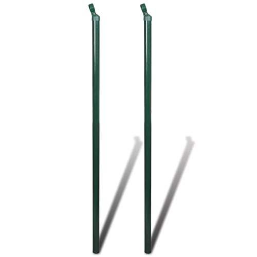 Daonanba Ensemble de poteaux de clôture en fer de haute qualité 2 pcs 1.75 m