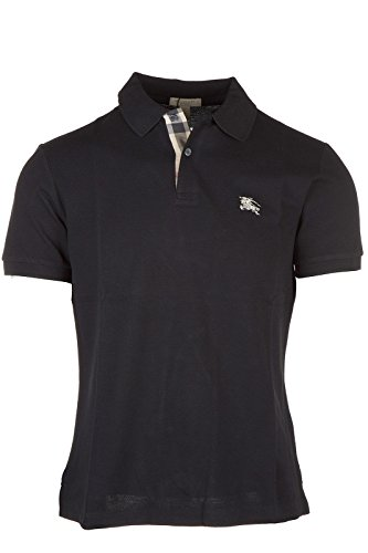 Burberry Herren T-shirts (Burberry Herren T-Shirt Polo Kurzarm Kurzarmshirt Polokragen Schwarz EU L (UK 40) 3459132 1)