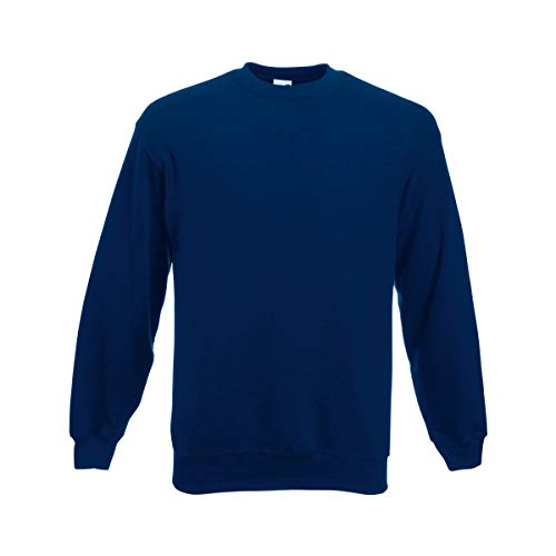 Fruit of the Loom 62-202-0 Sweat-Shirt Homme, Bleu Marine, XXXL