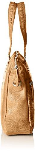 AMSTERDAM COWBOYS Damen Bag Sleaford Schultertaschen, 28x32x9 cm Beige