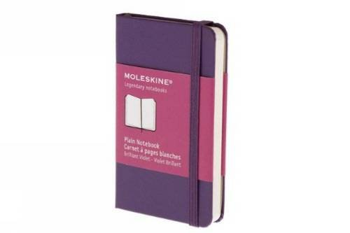 Plain notebook extra small, purple