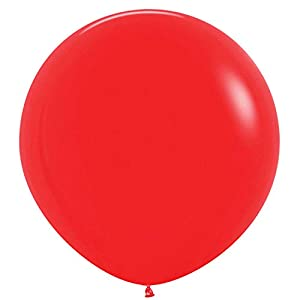 Amscan International Sempertex by Amscan 20006686 - Globos de látex (2 unidades, 91,4 cm), color rojo