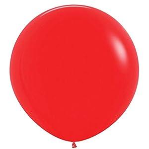 Amscan International Sempertex by Amscan 20006686 - Globos de látex (2 unidades, 91,4 cm), color rojo